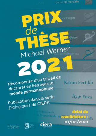 Appel à candidatures : Prix de thèse Michael WERNER